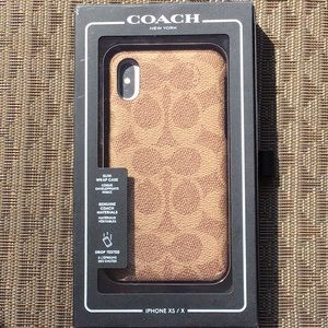 COACH IPhone SX/X Leather Cover